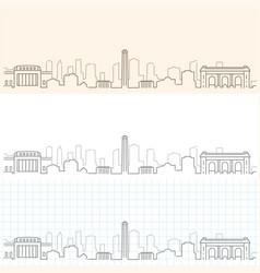 Kansas city hand drawn skyline vector