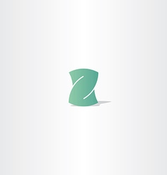 light green letter z logotype element design vector image