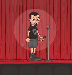 live band boy cartoon character vector image vector image