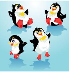 penguins set 380 vector image