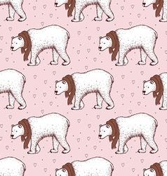Sketch polar bear vector