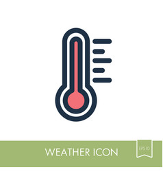 thermometer heat hot icon meteorology weather vector image