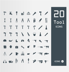 Tool icon set Set of 64 Quality icons vector image vector image