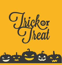 Trick or treat typographic poster vector