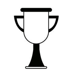 Trophy school award celebration object vector