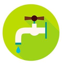 Water tap circle icon vector