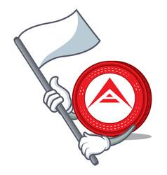 With flag ark coin mascot cartoon vector