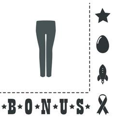 Women pants icon vector