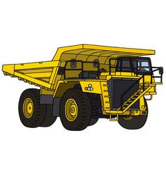 yellow mining dump truck vector image