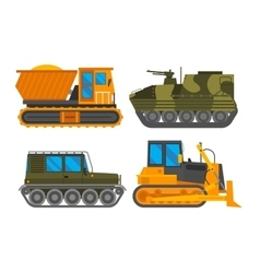 Caterpillar vehicle tractor vector