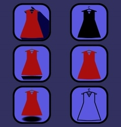 Dress icons set vector
