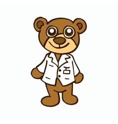 Doctor Bear character design for kids vector image
