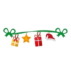 Merry christmas decoration hanging icon vector