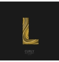 Curly textured letter l vector