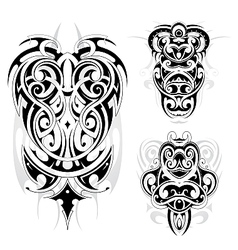 Maori tribal tattoo set vector