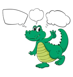Cartoon thinking crocodile vector