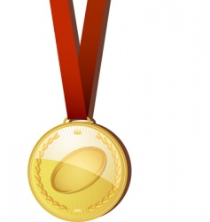 rugby medal vector image