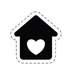 home heart love romance ornament pictogram vector image