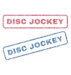 Disc jockey textile stamps vector