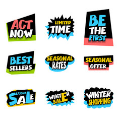 sale super big collection label seasonal offer vector image