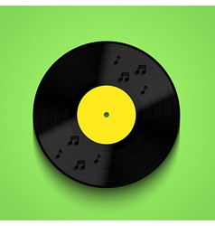 Old vinyl record background eps10 vector