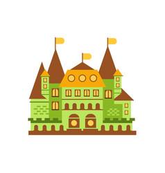 Green fairytale royal castle or palace building vector