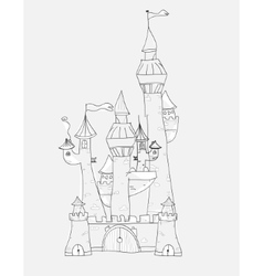 Sketchy castle vector