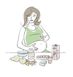 Maternity diet vector