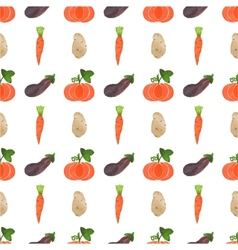 Seamless watercolor pattern with veggies on the vector