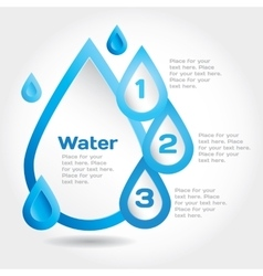 Water drop for info graphic vector
