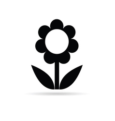 Flower black vector
