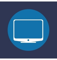 Television screen icon vector