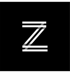 Capital letter z logo monogram emblem vector