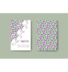 Abstract geometric brochure business card vector