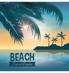 Beach design summer icon colorful vector