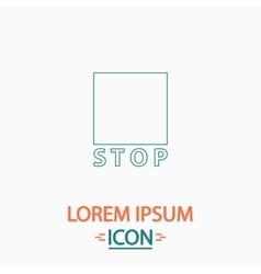 Stop button computer symbol vector