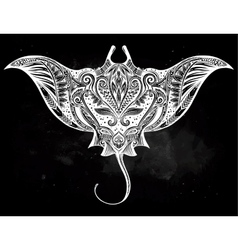 Ornate stingray fish vector