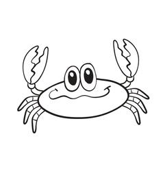 a crab vector image vector image