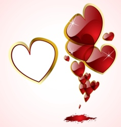 abstract hearts background vector image vector image