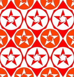 abstract seamless diamond pattern with stars vector image