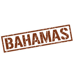 Bahamas brown square stamp vector