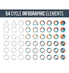 Big set of cycle elements for infographic vector