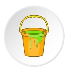 Bucket of paint icon cartoon style vector image vector image