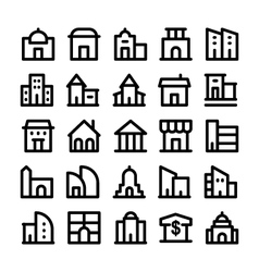 Buildings and Furniture Icons 2 vector image