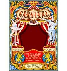 Circus Carnival Theme vintage 2d AurielAki vector image