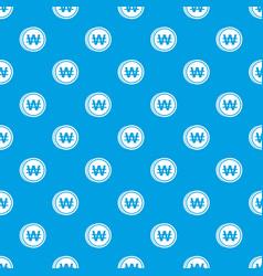 Coins wont pattern seamless blue vector