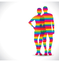 color couple design with strip vector image