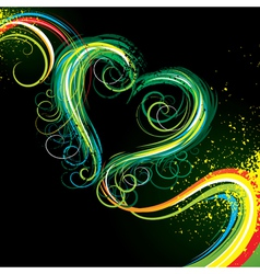 colour heart vector image vector image