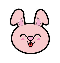 Cute bunny kawaii cartoon vector