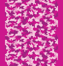 Digital pink camouflage vector